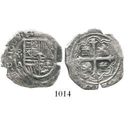 Mexico City, Mexico, cob 2 reales, 1609/8A/F, very rare.