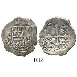 Mexico City, Mexico, cob 2 reales, Philip III, assayer D/F.