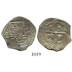 Mexico City, Mexico, cob 2 reales, Philip III, assayer not visible.