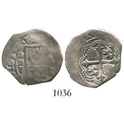 Mexico City, Mexico, cob 1 real, 1611/0F, rare.