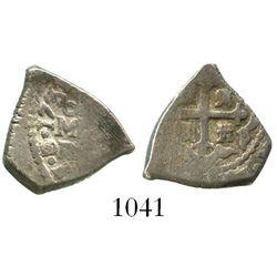 Mexico City, Mexico, cob 1 real, 1731/0F, rare.