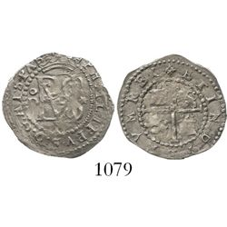 Lima, Peru, cob 1/2 real, Philip II, assayer Diego de la Torre, oD to left, * to right, P below mono