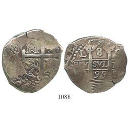 Lima, Peru, cob 8 reales, 1699R.