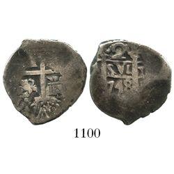 Lima, Peru, cob 2 reales, 1748V.