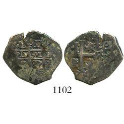 Lima, Peru, cob 1 real, 1687R.