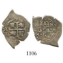 Lima, Peru, cob 1 real, 1698H.