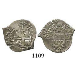 Lima, Peru, cob 1 real, 1707H.