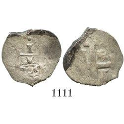 Lima, Peru, cob 1 real, 1725M, (Louis I), rare.