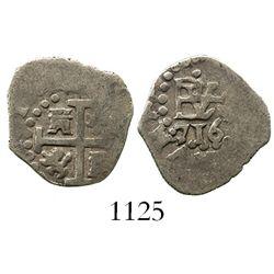 Lima, Peru, cob 1/2 real, 1716.