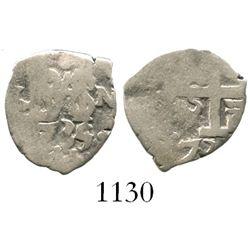 Lima, Peru, cob 1/2 real, 1735/4N, rare.