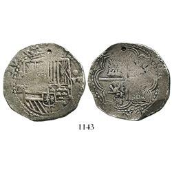 Potosi, Bolivia, cob 8 reales, Philip II, assayer RL.
