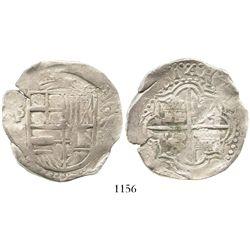 Potosi, Bolivia, cob 8 reales, Philip III, assayer M.