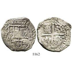 Potosi, Bolivia, cob 8 reales, 1629T, heavy-dot borders, denomination o-VIII.