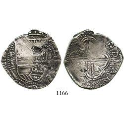 Potosi, Bolivia, cob 8 reales, (163)4T, rare.