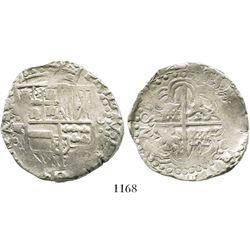 Potosi, Bolivia, cob 8 reales, (16)44TR, rare.
