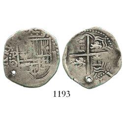 Potosi, Bolivia, cob 2 reales, Philip III, assayer Q/C, rare.