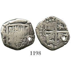 Potosi, Bolivia, cob 2 reales, (1)629T.