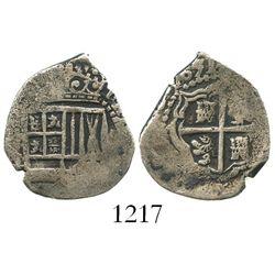 Potosi, Bolivia, cob 1 real, 1651E, full date (rare).