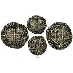 Potosi, Bolivia, cob 8 reales Royal, 1721Y, rare.
