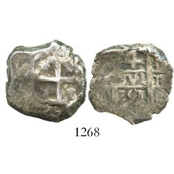 Potosi, Bolivia, cob 4 reales, 1751E.