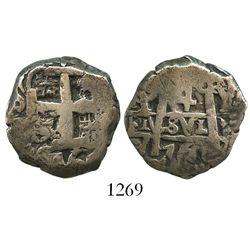 Potosi, Bolivia, cob 4 reales, 1760Y-V, rare.