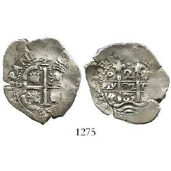 Potosi, Bolivia, cob 2 reales, 1685VR.
