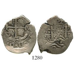 Potosi, Bolivia, cob 2 reales, 1693VR.