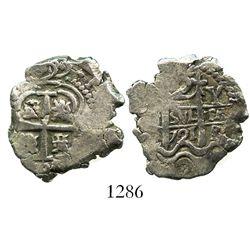 Potosi, Bolivia, cob 2 reales, 1721Y, rare.