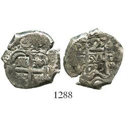 Potosi, Bolivia, cob 2 reales, 1723Y.