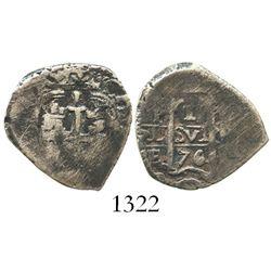 Potosi, Bolivia, cob 1 real, 1676E.