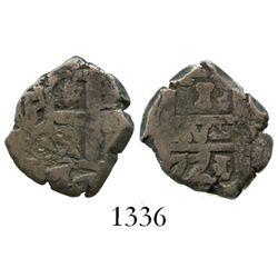 Potosi, Bolivia, cob 1 real, 1771/0(V-Y), rare.