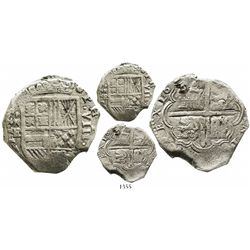 Cartagena, Colombia, cob 8 reales, 162(6-9)E, with RN-E to left, rare.