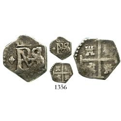 Cartagena, Colombia, cob 1/2 real, Philip IV, assayer not visible (style of 1626-7), fleur-de-lis to