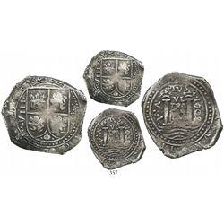 Bogota, Colombia, cob 8 reales, 1702VA, extremely rare.