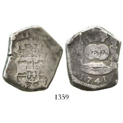 Guatemala, cob 8 reales, 1741J.