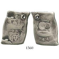 Guatemala, cob 8 reales, (1)744(J), very rare.