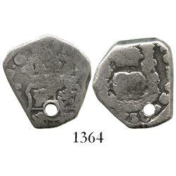 Guatemala, cob 2 reales, (1)738J.