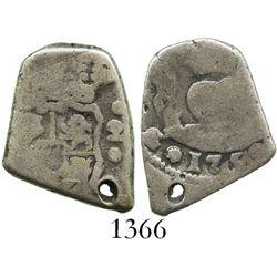 Guatemala, cob 2 reales, 1752(J).