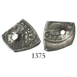 Guatemala, cob 1 real, 1739J.