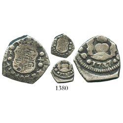 Guatemala, cob 1/2 real, 1737/6J, rare.