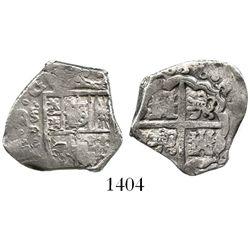 Seville, Spain, cob 2 reales, 1636R.