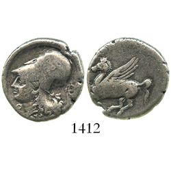 Corinthia, Corinth, AR stater, ca. 375-300 BC.