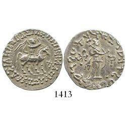 Indo-Scythians, AR tetradrachm, Azes II, ca. 50 BC to 5 AD.