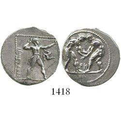 Pamphylia, Aspendus (Balkyzi), AR stater, ca. 380/75 to 330/25 BC.