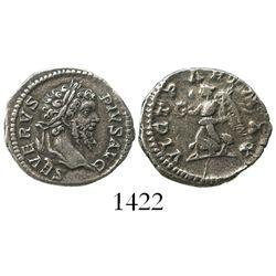 Roman Empire, AR denarius, Septimius Severus, 202 AD.