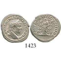 Roman Empire, AR denarius, Caracalla, Rome mint, 215 AD.