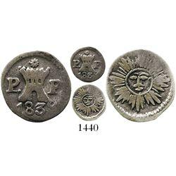 Cordoba, Argentina, 1/4 real, 1839P-P.