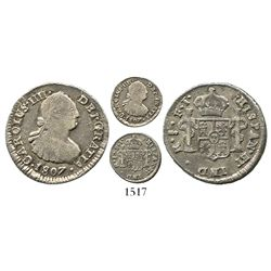Santiago, Chile, bust 1 real, Charles IV, 1807FJ.