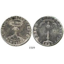 Santiago, Chile, 1 peso, 1820.