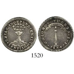 Santiago, Chile, 1 real, 1834IJ.